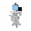 Carrello StyleView telemedicina 2 monitor - alimentazione