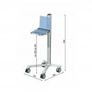 Uni-Cart con regolazione meccanica dell'altezza e supporto laptop
