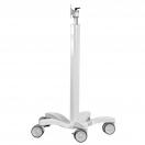 Esempi di carrello medicale e di supporto - dettaglio su rotelle - foto 3