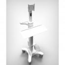 Carrello medicale e di supporto - modello con supporto tastiera - foto 3