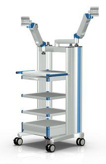 Carrello Medicale con bracci regolabili in altezza